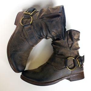 """EUC Crown Vintage """"Beauty"""" Moto Boots, Size 8"""